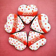 pink and red dotted heart | Cookie Connection