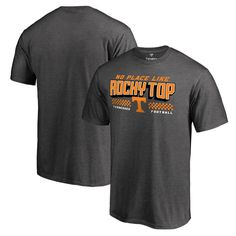 Tennessee Volunteers Fanatics Branded Rocky Home T-Shirt - Heathered Gray