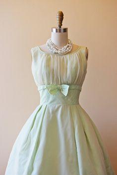 1950's Chiffon Cocktail Dress
