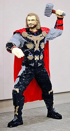Thor lego model my fourth grade teacher use to call him self the all mighty Thor. He was Mr.Bowman. He teaches at Fernbrook Elementary in Maple Grove,MN. if you've had him as a teacher repin this