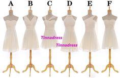Bridesmaid dresses  cheap short bridesmaid dress by TinnaDress, $89.00