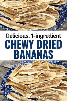 These chewy dried bananas are SO delicious, but also good for you! Satisfy your sweet tooth while getting vitamins, minerals, and more. Healthy Food To Lose Weight, Healthy Food List, Healthy Sweets, Healthy Foods To Eat, Real Food Recipes, Vegan Recipes, Snack Recipes, Simple Living, Natural Living