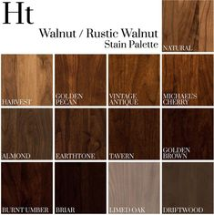 Hardwood Stain Sample for Home and Timber Furniture – Architecture – Wood Craft Hardwood Floor Stain Colors, Wood Stain Colors, Oak Stain, Dark Walnut Stain, Dark Walnut Floors, Walnut Wood Color, Paint Colors, Walnut Furniture, Timber Furniture