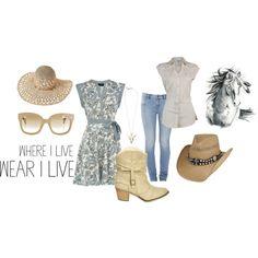 """Cowgirl Fashion"" by sunshinelolipopsandrainbows on Polyvore"