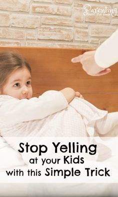 Stop yelling at your kids with this SIMPLE and effective strategy. Rooted in positive parenting, this tip stopped me from yelling at my kids and has helped calm our household greatly.