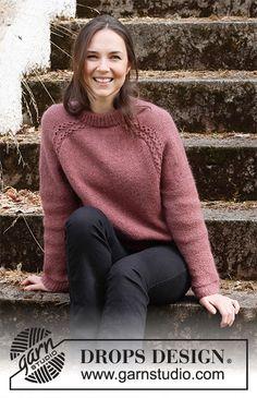 Alpenglow Sweater / DROPS 218-11 - Kostenlose Strickanleitungen von DROPS Design Drops Design, Sweater Knitting Patterns, Knit Patterns, Free Knitting, Gilet Mohair, Drops Kid Silk, Drops Alpaca, Magazine Drops, Womens Knit Sweater