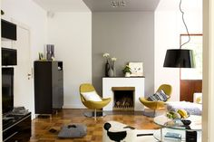 the future colours of my living room Grey And Yellow Living Room, Living Room Modern, My Living Room, Home And Living, Living Room Designs, Living Room Decor, Home Design Decor, Interior Design, Home Decor