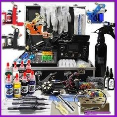159.99$  Buy here - Professional Tattoo Kits with Dual LCD Power 6 tattoo Guns free shipping 20% OFF  #aliexpresschina