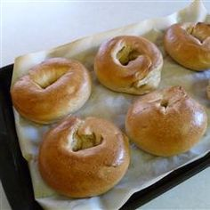The recipe of Real Homemade Bagels is the quick and easy make recipe. This is a pretty good bagel recipe with a delicious taste. Homemade Bagels, Real Homemade, Good Food, Yummy Food, Tasty, Bagel Recipe, Instant Yeast, Bread Baking, Vegan Baking