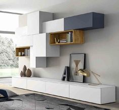 Sectional lacquered storage wall SLIM 88 By Dall'Agnese design Imago Design - Slim Wall Systems www.archiproducts… See also: 24 Uberstylish Modular Wall-Mounted Shelving Syste - Living Room Tv Wall, Furniture Design, Living Room Tv, Home And Living, Living Room Designs, Home Living Room, House Interior, Wall Unit, Modular Walls