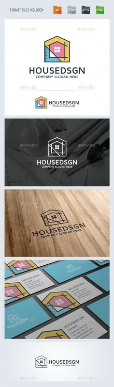 House Design Architecture Logo Design Template Vector #logotype Download it here:  http://graphicriver.net/item/house-design-architecture-logo-template/13816376?s_rank=704?ref=nexion