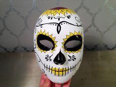 Dia de los Muertos Mask SUGAR SKULL Mask by LaCatrinaDeSanDiego