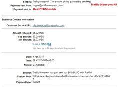Traffic Monsoon Payment Proof $6.02  http://bestptcsites.biz/