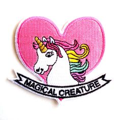 This unicorn patch totally emphasizes your existence as a magical creature.