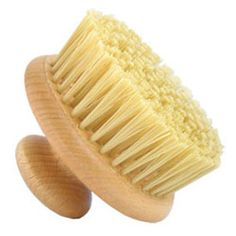 Round Body Brush $12 - for exfoliating in the shower. Use with a sugar scrub on dry skin, before you get wet.
