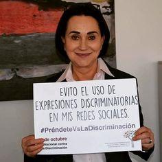 La directora general del Ichmujer, Emma Saldaña Lobera se suma a la conmemoración del Día Nacional contra la Discriminación #PréndeteVsLaDiscriminación #gobiernoabierto #JavierCorral #Cuu #Inmujeres #conapred
