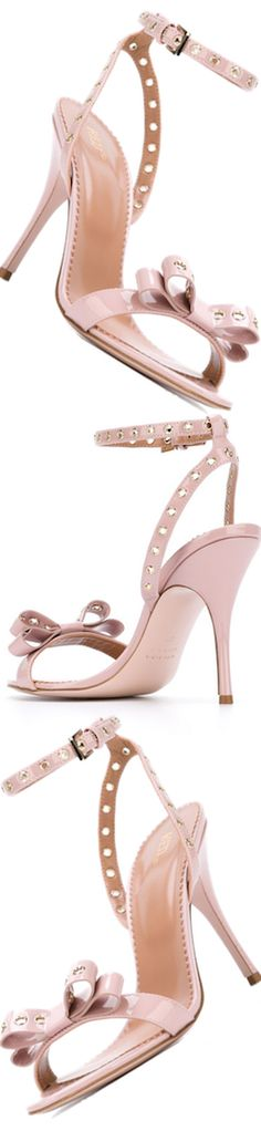 RED VALENTINO Stiletto Sandals in Pink Calf Leather