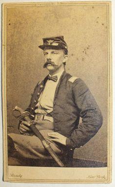 CDV Civil War Soldier with Sword by Brady   eBay