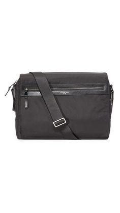15f1e01a27 Michael Kors Kent Nylon Large Messenger Bag Shoulder Bag