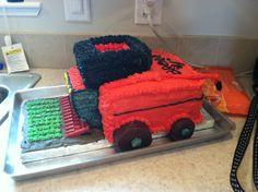 Case IH Combine Birthday cake