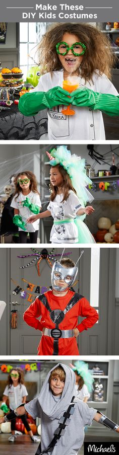 These DIY kids costumes are simple to make! Whether your kiddo wants to be a mad scientist, unicorn, super hero or space pirate, you can find everything you need to craft a costume at Michaels.
