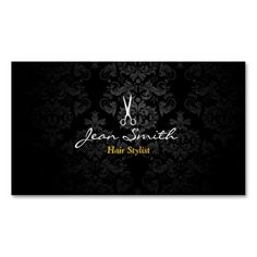 Fashion designer business cards fashion designer business cards stylish dark damask hair stylist business card colourmoves