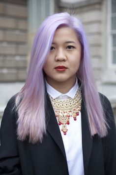 Few beauty trends are as delicate and pretty as the pale purple hair that's all over Instagram.