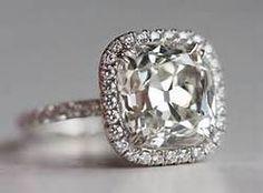 Cushion Cut Halo Engagement Ring - Bing Images