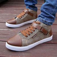 New Sosire 2014 Spring / toamnă confortabile Spotive Lace-up pantofi Denim Fabric omului cu PU Masculii pantofi casual XMB220 cu ridicata