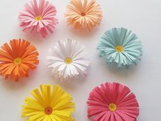 Flores de papel (Margaritas) Fácil y rápido | Aprender manualidades es facilisimo.com