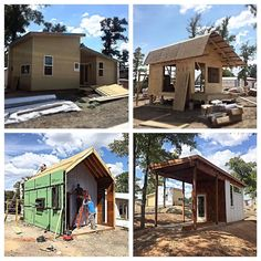 Construction progress on the micro homes at Community First! Village. Soon these small structures will be tiny victories for the homeless in Austin to call home. @mlfnow @pagethink @sixthriver @bokapowell #designtrait #buildinggoogness #communityfirst #architecture #construction #instarchitecture #microhome #tinyhouse #mobileloavesandfishes #designvoice #tinyvictories by aiadesignvoice