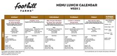 """Week 1 """"Lunch Tray Tuesday"""" complete with meal pattern and nutrient analysis"""