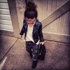 Alaia Rose,  Stylist Monica Rose's daughter. So now I need to take style tips from a toddler