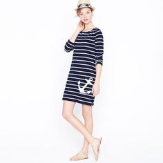 J Crew Maritime Anchor Dress is perfect for a lunch date!