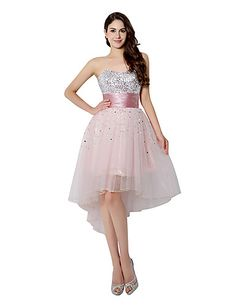 Cocktail Party Dress A-line Sweetheart Knee-length Tulle with Sequins 5246077 2016 – $79.99