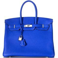 Royal Blue Hermes Birkin Bag - Hermes - Perfect