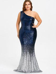 9bf740d42b166 PlusMiss Plus Size 5XL Elegant Evening Sequin Long Maxi Mermaid Party Dress  Sexy Dresses