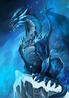 amazing artwork: Blue Dragon