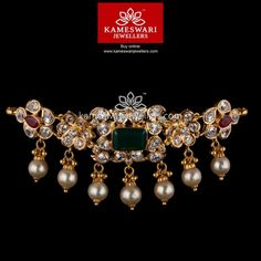 Stunning gold vanki designs by Kameswari Jewellers. Shop online from one of the foremost South India's traditional jewellers. Gold Necklace Simple, Gold Jewelry Simple, Short Necklace, Gold Earrings Designs, Gold Jewellery Design, Necklace Designs, Jewels, Vaddanam Designs, Chokers