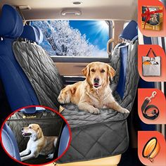 B-comfort Pet Car Seat Cover for Dogs-Unique Clear View