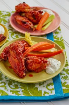 Baked Buffalo Wings with Blue Cheese Dip