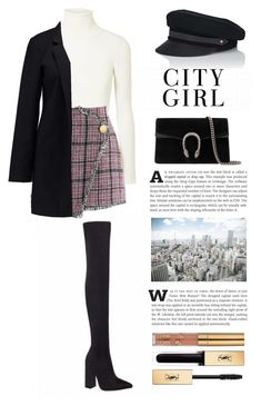 """Untitled #422"" by magine on Polyvore featuring JoosTricot, Chicwish, Vero Moda, Gucci, Lola and Yves Saint Laurent"