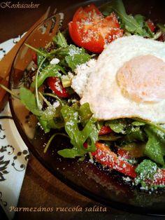 Parmezános ruccola saláta Egg Recipes, Salads, Eggs, Dishes, Sweet, Ethnic Recipes, Food, Candy, Tablewares