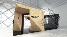 University of Arts London information pavilion. Exhibition classes at Poznan University of Technology. Exhibition Stall, Exhibition Booth Design, Exhibition Display, Exhibit Design, Trade Show Design, Display Design, Expo Stand, Showroom Design, Behance