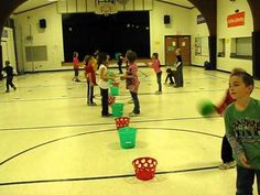great catching and throwing game! 1-3rd, with 4/5 grade we can modify this somehow to make it more challenging