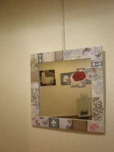 espejo técnica mixta