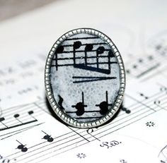 One Artsy Mama: Dimensional Magic Sheet Music Ring DIY