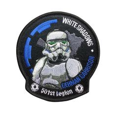 Star Wars 501st Legion Imperial Stormtrooper Patch Embroidered Movie Iron On Sew On Patches meet you on www.Fleckenworld.com
