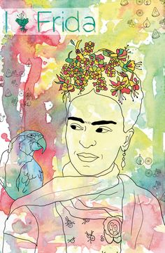 Frida Kahlo illustration by Annick Gaudreault