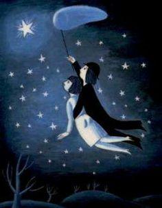 Come posso desiderare di camminare se con Te ho volato,  lo spazio illimitato del cielo? Con la Tua mano ho colto la tenerezza dell'infinito nel breve spazio di una carezza. E se una stella brilla da qualche parte nel buio del cielo,  è perché la Tua mano mi ha accompagnato ad accenderla, in un giorno lontano,  per noi,  lassù.